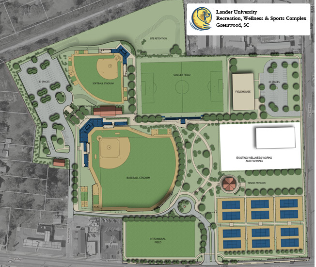 Lander University Campus Map.Lander University Sports Complex